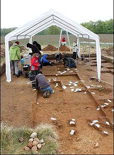 Ausgraben nach Planquadraten