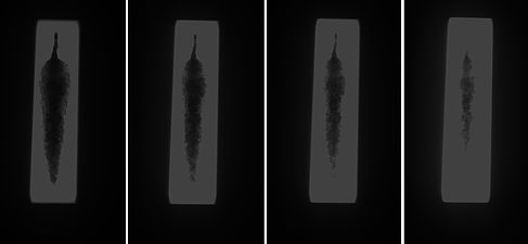 Röntgenaufnahmen der Speerspitze